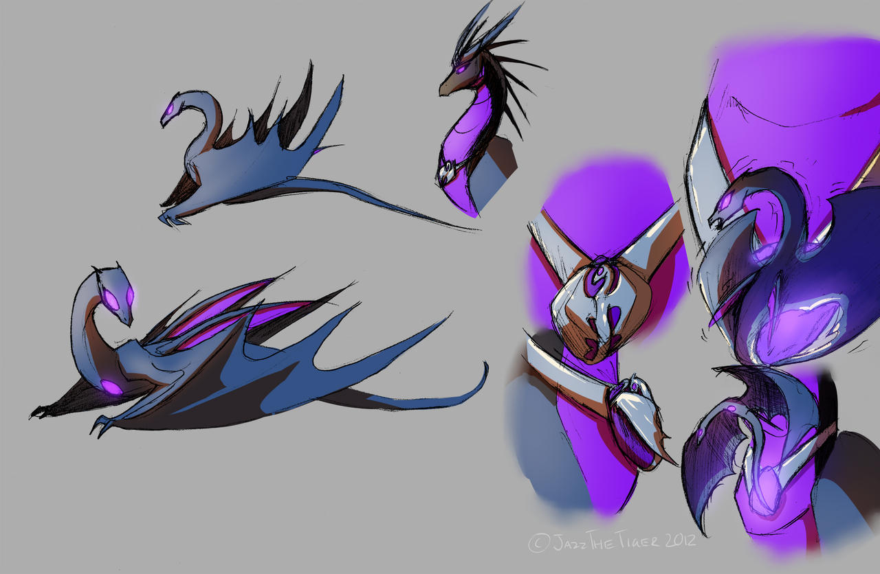Dragonformers: Soundwave and Lazerbeak concept 2 by JazzTheTiger