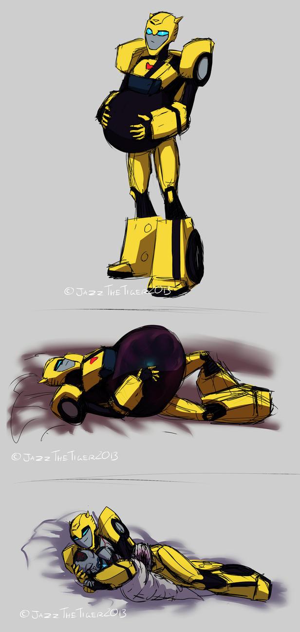 Pregnant Bumblebee.. by JazzTheTiger