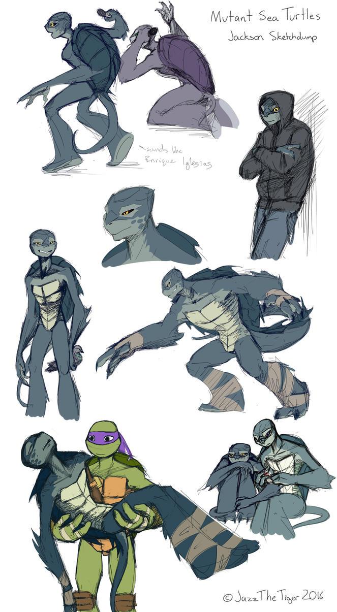 Sketchdump: Mutant Sea Turtles - Jackson by JazzTheTiger