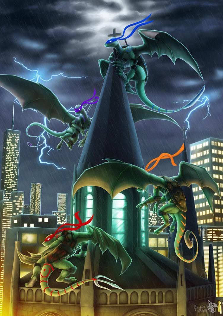 Ninja Turtle-Dragons by JazzTheTiger