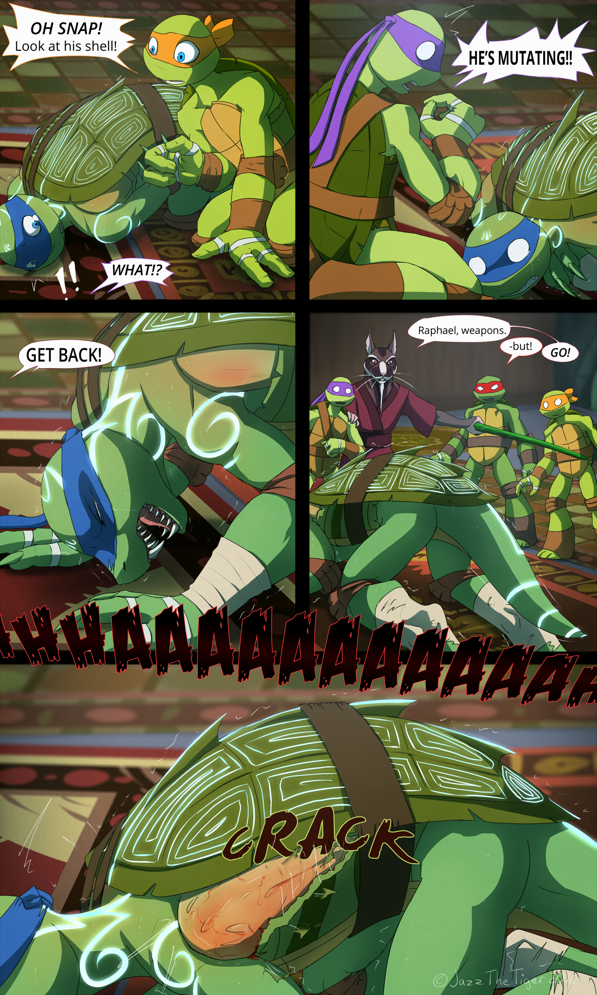 TMNT: Dragons Rising Pg 07 by JazzTheTiger on DeviantArt
