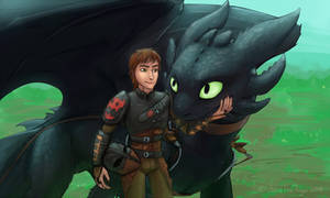 Hiccup has the BEST dragon