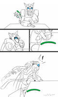 The [Mis] Adventures of KittyBee #3 (Pool Noodles) by JazzTheTiger