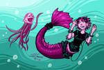 What up jellyfish? by VanessaSatone