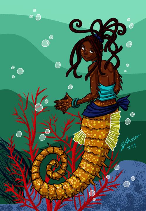 Seahorse Mermaid by VanessaSatone