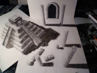 anamorphic illusion by Sparrks