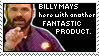 BILLY MAYS stamp by pandapoots