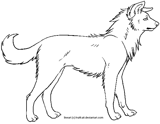 Line Art Dog : Free dog lineart by pandapoots on deviantart