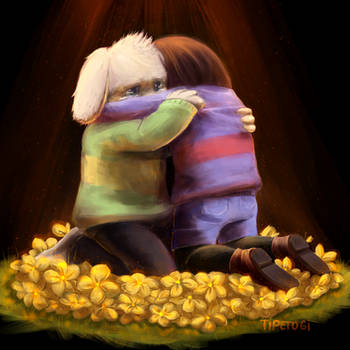 [Comfort him] - Undertale by Cotton-Monster