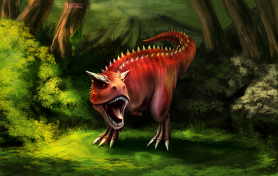 Carnotaurus by Cotton-Monster
