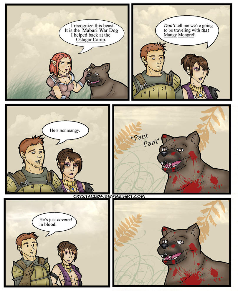 Dragon Age Origins The Dog By Crystal124 On Deviantart