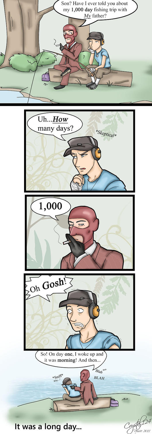 TF2- Father son bonding by Crystal124
