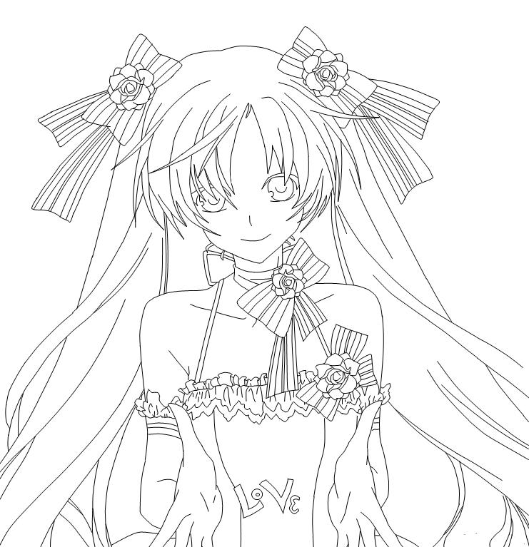 Line Art Wedding : Isadora wedding dress lineart by chibikuu chan on deviantart