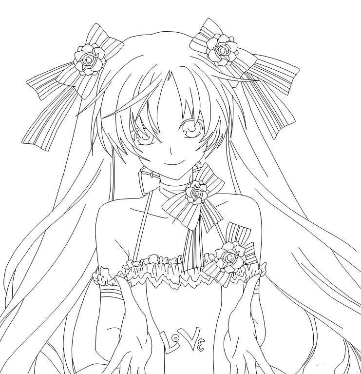 Wedding Dress Line Drawing : Anime wedding dress drawing isadora lineart