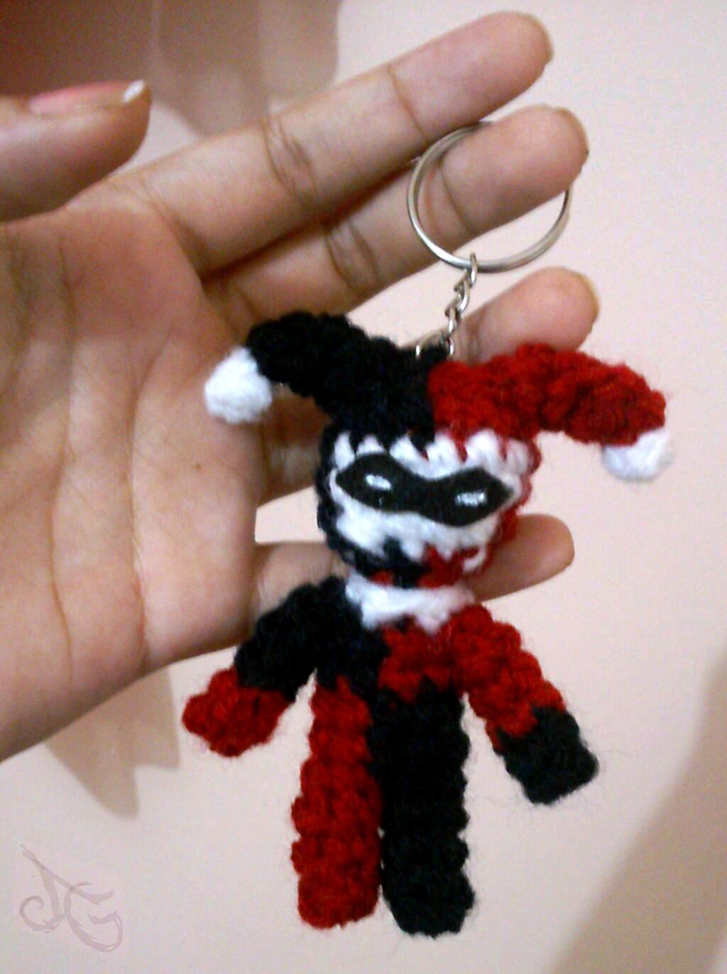Harley Quinn Keychain by AmiAmaLilium