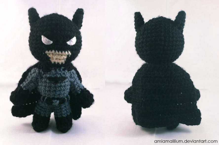 Free Amigurumi Batman Pattern : Batman inspired chibi amigurumi by AmiAmaLilium on DeviantArt
