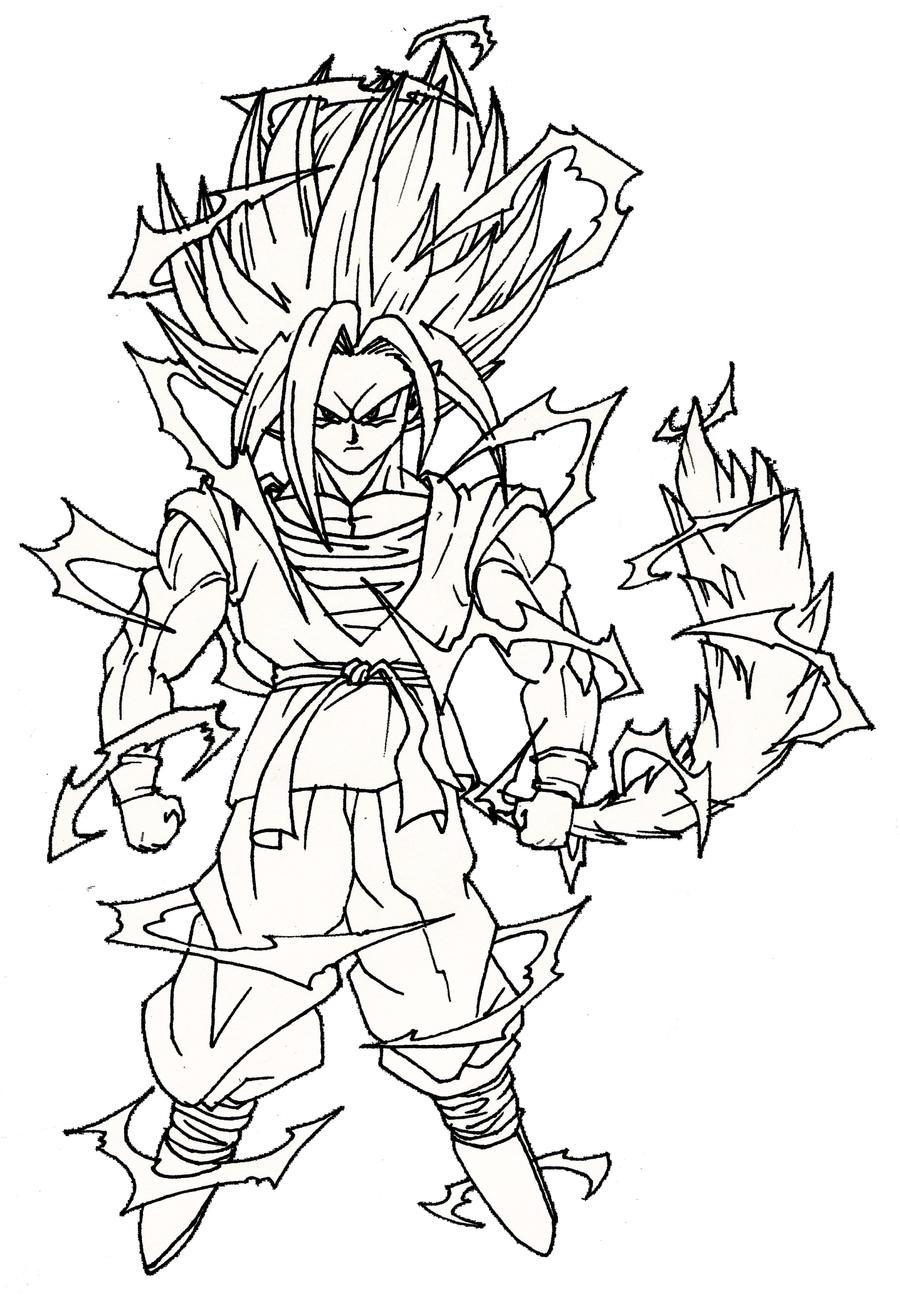 Super Saiyajin 4 REDesign by DragonBoyTanton on DeviantArt