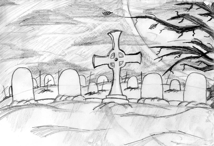 graveyard scene by nightthedemon on deviantart. Black Bedroom Furniture Sets. Home Design Ideas
