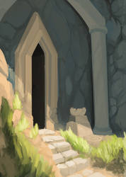 A cave by otterocalypse