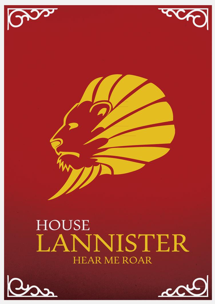 House Lannister Sigil House Lannister Minimalist