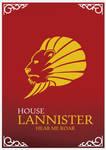 House Lannister Minimalist Poster