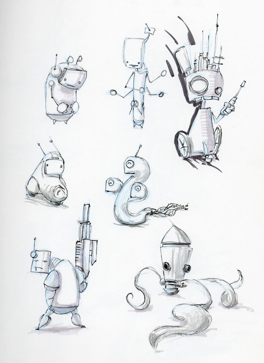 Robot Concepts By Spikylu On Deviantart