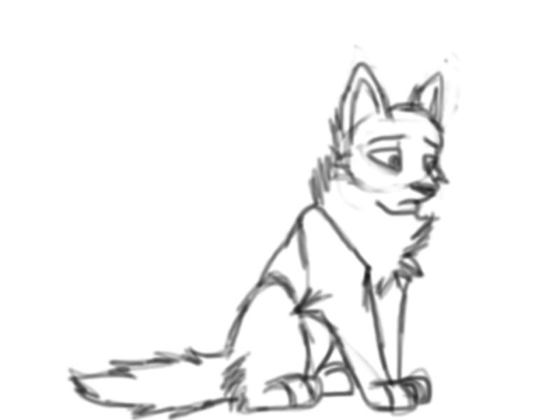Depressed wolf drawing - photo#19