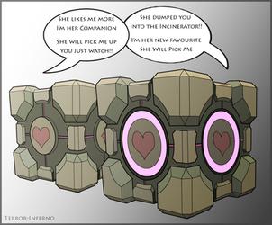Portal - Companion Cube by Terror-Inferno