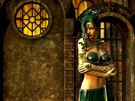 The Lonely Gorgon by Thyranq