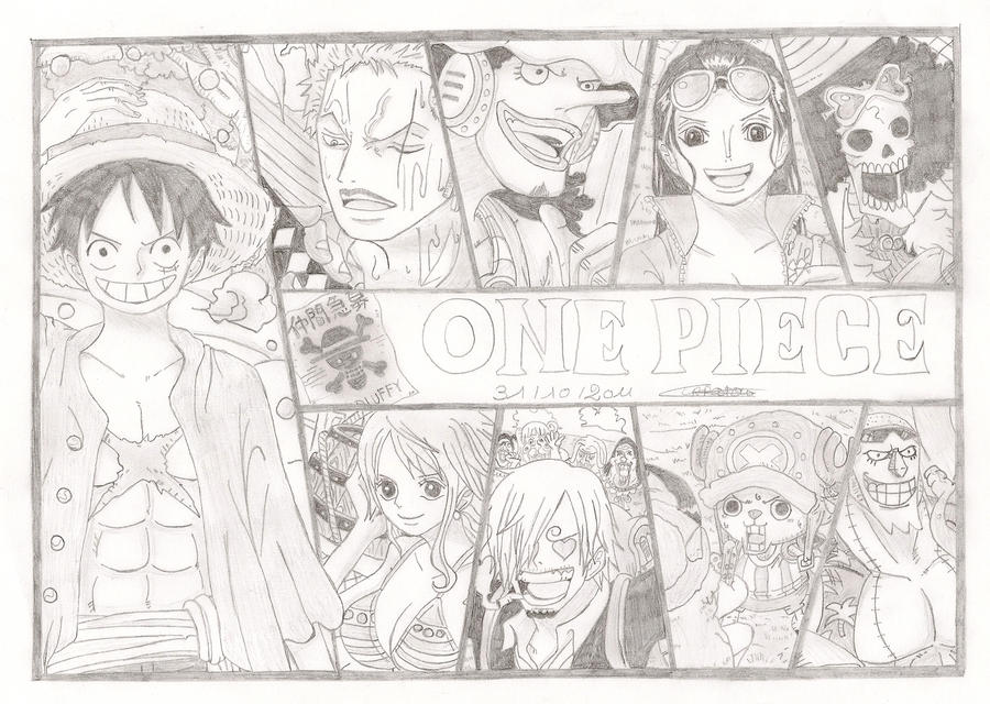 One piece 2 years later by kamirure03 on deviantart - Coloriage one piece wanted ...