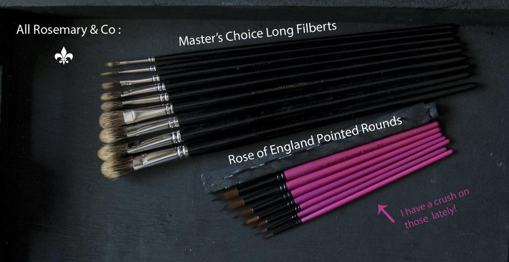 Rosemary Oil Paint Brushes