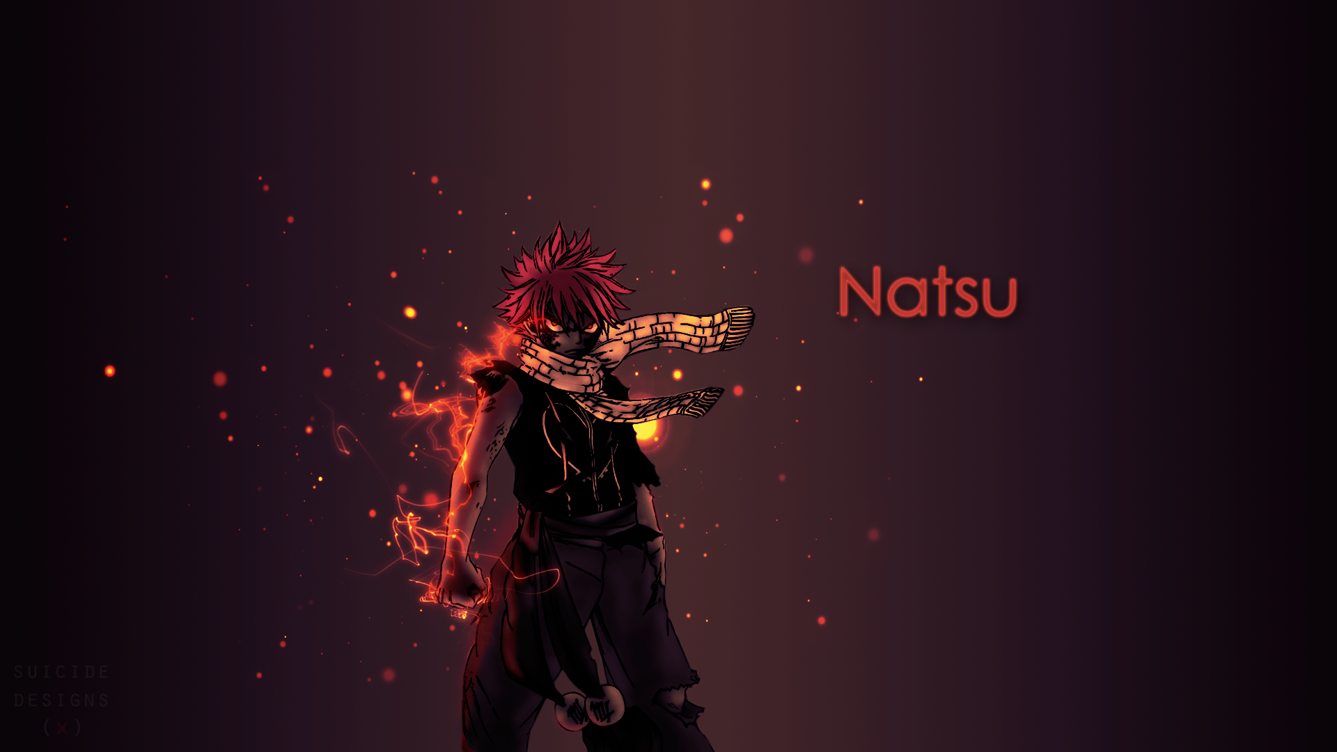natsu wallpaper by spicedesings on deviantart