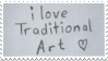 Traditional Art Stamp by ElyneNoir