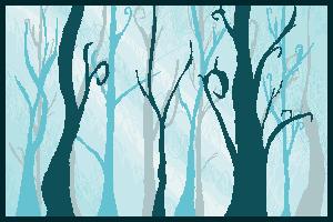 Pixel Forest by ElyneNoir