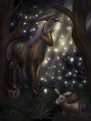 Fantasy Forest by ElyneNoir