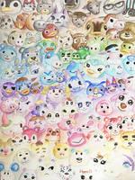 Animal Crossing Pastel Rainbow
