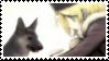 Irina and Dog Stamp by PoromPikachu
