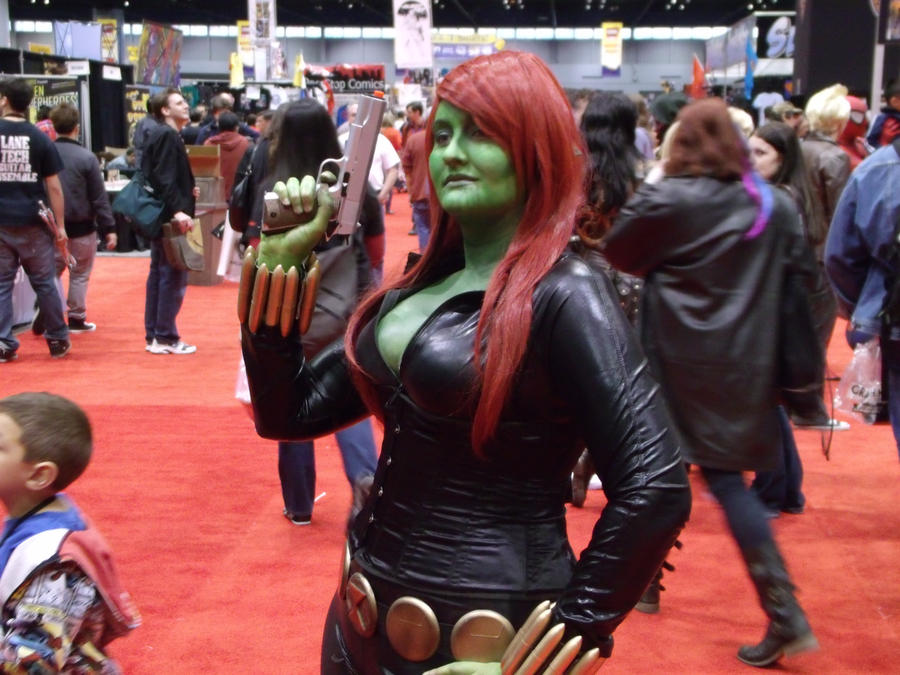 Skrull Black Widow 2 @ C2E2 2012 by MonkeySquadOne