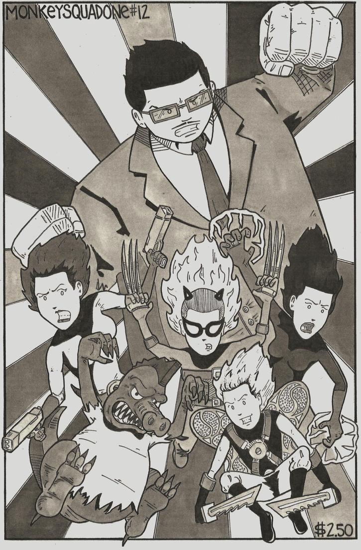 Monkey Squad One #12 cover by MonkeySquadOne