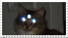 creepy cat stamp by OctopusSmugglingInc