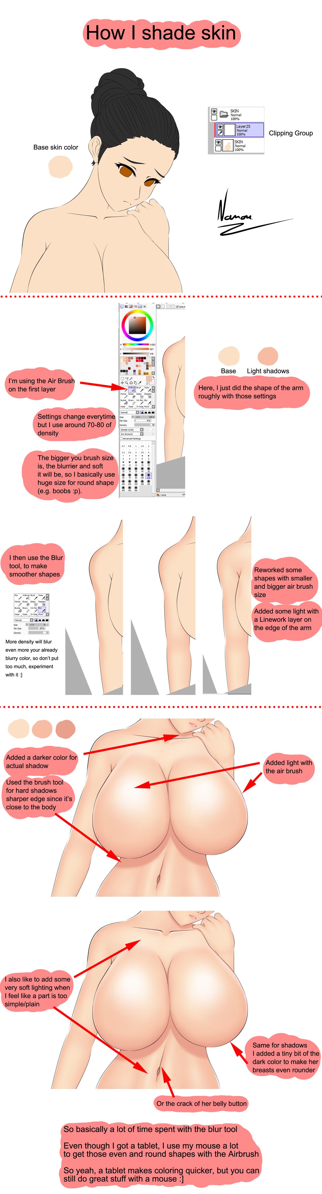 Tutorial : Skin shading by Nanouw