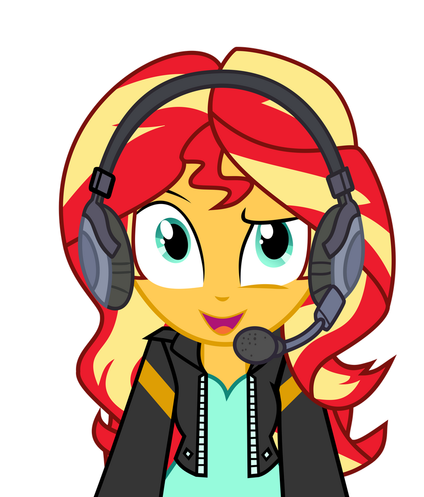 sunset_shimmer_gaming_by_asrafpie_dd4b5n