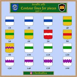 Contour lines for pieces (part 1)