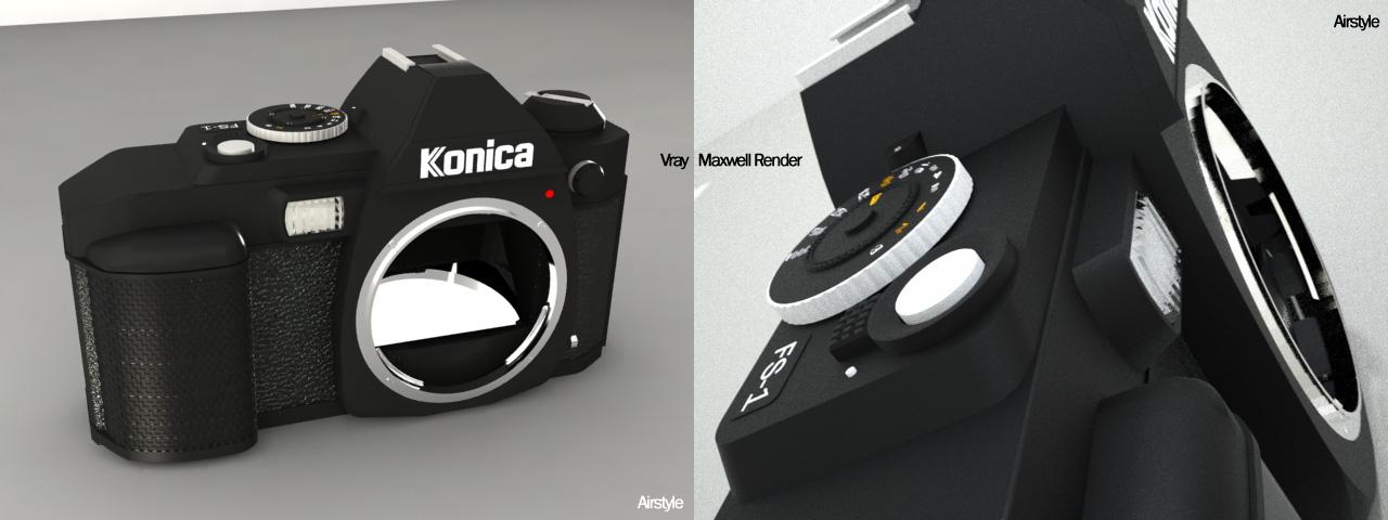 Konica Minolta FS-1 SLR Camera by airstyle