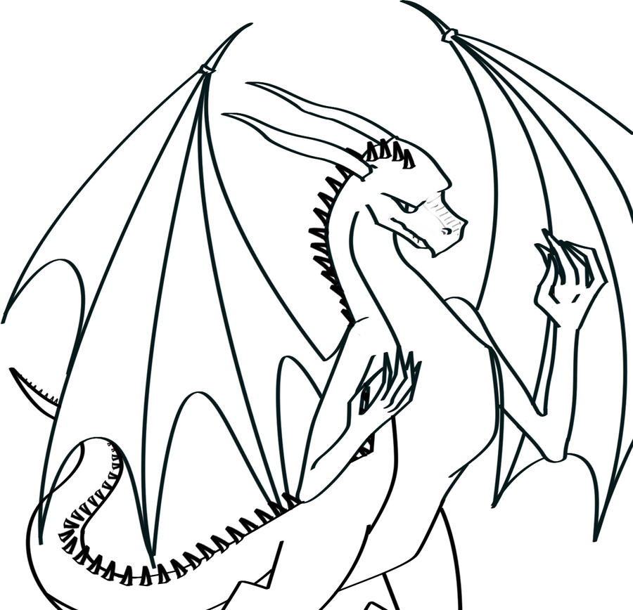 Dragon Lineart : Dragon lineart by dddenisek on deviantart