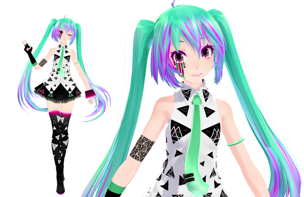 [Tda] Xtrange Miku + DOWNLOAD by Orion-P