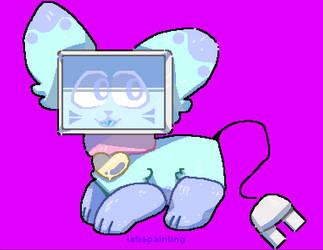 mew mew MEW ROBOT KITTY by latiapainting