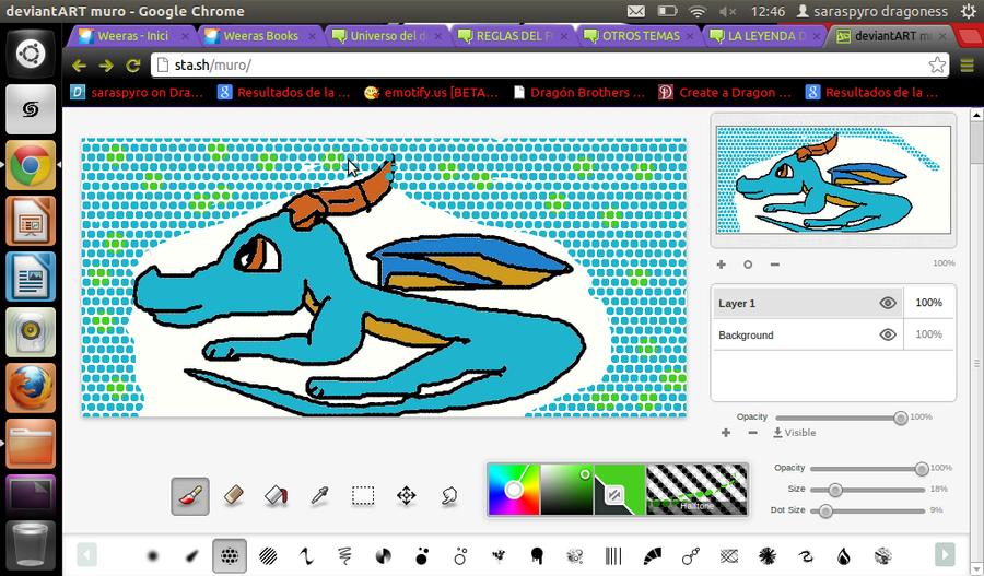 Mi arte :33 Dragon_blue_by_saraspyro-d5pbml5