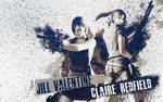 Jill Valentine n Claire Redfield wallpaper
