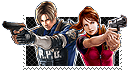 Leon and Claire stamp by VickyxRedfield